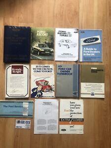 Rare Ford Escort Mk3 Series 1 Rs Turbo Original Owners Manuals & Handbook Pack