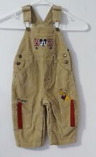 Disney Babies Boy Mickey Mouse Light Brown Corduroy Overalls Size 18M
