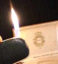 BRIQUET Ancien @ Silver Match Paquebot de FRANCE déco lézard @ Lighter Feuerzeug