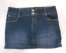 SO juniors stretch dark wash blue embroidered jean short shorts size 5