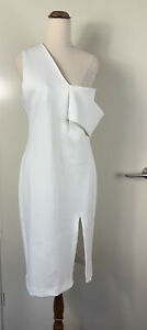 Maurie & Eve White One Shoulder Dress Size 12