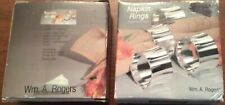 Rogers Silverplated Napkin Rings-Flared edges- 3 boxes of 4 - NEW in Box