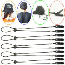 5 x NEW ADJUSTABLE HAT CLIP/CAP RETAINER-CLIP TO SHIRT - BOATING/JOGGING/FISHING
