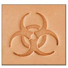 Tandy Leather 2d herramienta de Estampado Biohazard-Craf sello 859900