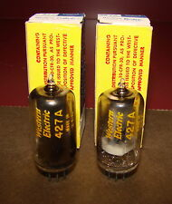 Pair, Western Electric 427A Radio/Audio Tubes, NOS