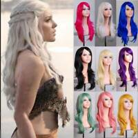 Long Curly Fashion Cosplay Costume Party Hair Anime Wigs Full Hair Wavy Wig