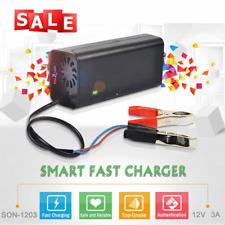 12V 3A Smart Car Motorcycle Battery Charger Lead Acid Battery Charger 220V Black