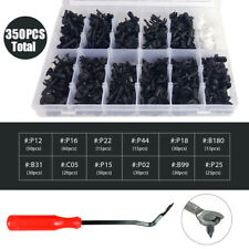 350Pcs Auto Car Body Plastic Push Pin Rivet Fasteners Trim Panel Moulding Clip