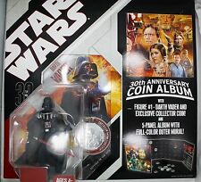 STAR WARS DARTH VADER FIGURE WITH 30TH ANNIVERSARY COIN ALBUM + EXCLUSIVE COIN