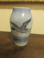 Royal Copenhagen Denmark Porcelain Blue Vase Bird Mallard Duck 1087
