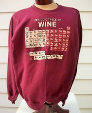 Periodic Table of Wine Sweatshirt Holiday Gift for Wine Lovers Science Nerds