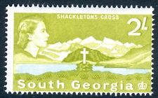 SOUTH GEORGIA-1963-69 2/- Yellow-Olive & Light Blue Sg 11 LIGHTLY MOUNTED MINT