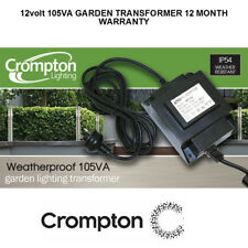 12V AC 105W Weatherproof Garden Light Transformer IP54 Crompton