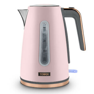 Tower Cavaletto Kitchen 1.7L 3KW Jug Kettle Pink and Rose Gold Accents