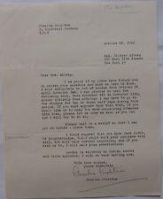 Charles Crichton signed letter,October 18, 1962