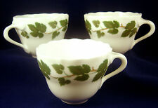 3 HUTSCHENREUTHER CUPS WEINLAUB Grape Leaves Green Maria Teresia White Coffee