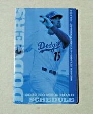 2002 Los Angeles Dodgers Major League Baseball Pocket Schedule Shawn Green cover