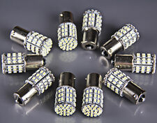 10x Ba15s 1156 White Car Rear Turn Light Signal Super Bright 64 SMD LED Bulb 12V