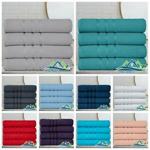 Pack of 4 Large Jumbo Bath Sheet 100% Egyptian Combed Cotton Big Beautiful Towel