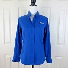 Columbia Women's PFG SMALL Tamiami II Long Sleeve Shirt BLUE MACAW Vented Pocket