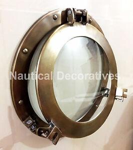 "vintage style 15"" porthole round coastal wall glass picture Frame vintage Decor"