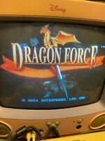 Sega Saturn DRAGON FORCE Tested Working Simulation role-playing game JAPAN