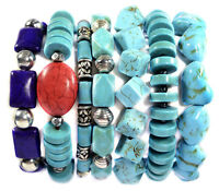 Vintage Turquoise Stacking Bracelet Band Gemstone Jewellery Tantric Tokyo UK