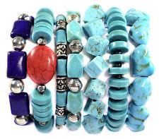 Vintage Turquoise Stacking Bracelet Band Gemstone Jewellery Tantric Tokyo UK