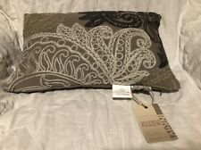 "New...Embroidered ""Ink + Ivy* Decorative Pillow 12""x18"""