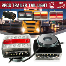 2x Magnetic LED Trailer caravan Towing Lightboard Lights Rear Tail Board Lamps