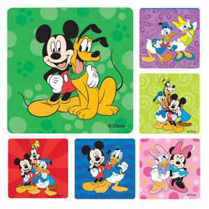 Mickey Mouse Stickers x 6 - Birthday Party Supplies Favours Loot Goofy Donald