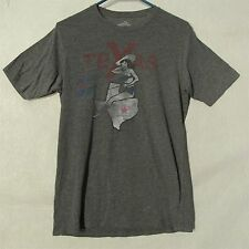 "S4398 Been There Men's Medium Gray Texas ""The Biggest and Best"" Graphic T-Shirt"