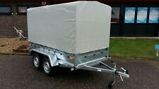 NEW TWIN AXLE TRAILER  CAMPING TRAILER 8,6 FT x 4,4 FT  750 kg  CANOPY H-1,56m
