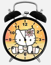 "Hello Kitty Alarm Desk Clock 3.75"" Room Office Decor W07 Will Be a Nice Gift"