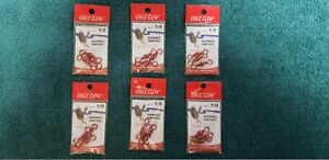 Lot of 6 packs - Eagle Claw 1/0 Red Barrel Swivel 01014-019 3 per pack