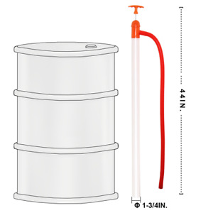 55 Gallon Barrel Heavy Duty Drum  Manual Liquid Transfer Water Hand Pumps