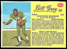 1963 POST CFL FOOTBALL #94 BILL GRAY NM SASKATCHEWAN ROUGHRIDERS MARYLAND STATE