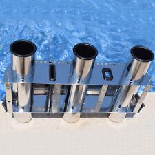 Fishing Outrigger Rod Holder Tackle Rack Stainless Steel 3 Tube Holder Splendid