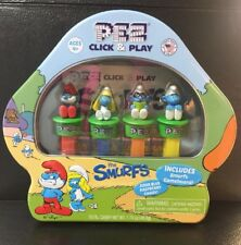 Smurfs: Click & Play Pez Gift Tin-NEW