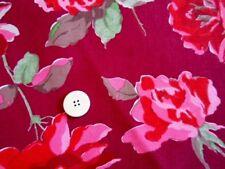 FQ Cath Kidston Pato De Algodón Vestido De Tela De La Decoración Rosa Roja Primeros Años
