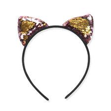Cute Kids Girls Glitter Cat Ear Sequins Hairband Headband Hair Hoop Accessories