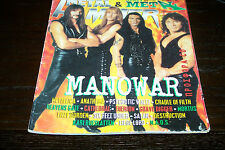 METAL HAMMER MAGAZINE 12/1996 MANOWAR METALLICA CRADLE OF FILTH