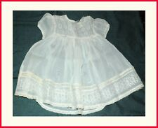3 Pc. Vintage Baby Christening Dress Jacket Hat 1950's Beautiful Lace Embroidery