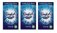 Comfort Intense Fresh Sky Tumble Dryer Sheets nice laundry fragrance 60 sheets