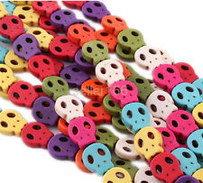 100 pcs Colorful Turquoise Skull Grimace Howlite Spacer Loose Beads Charms