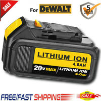 Replace DCB205-2 for DEWALT XR 20 Volt Lithium 4.0AH Battery New Fuel Gauge Pack