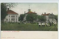 School Campus at COLUMBUS WI Vintage Columbia Dodge County Wisconsin Postcard