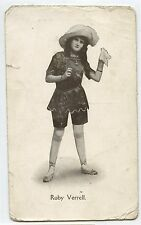 Old Postcard Actress Ruby Verrell