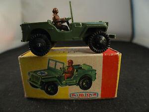 Sam Toys Italy No. 437 Jeep Jepp Plastic Military US Nib 7 cm Rare