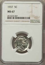 1937 Buffalo Nickel NGC MS67 - Superb Mint State!!! (23007)